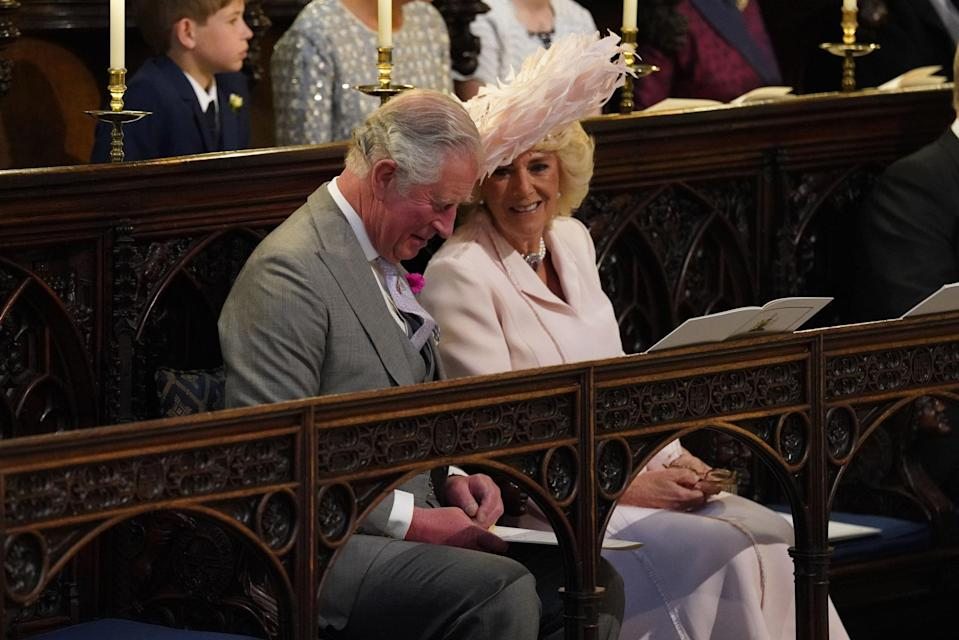 <p>Prince Charles, Prince of Wales and Camilla, Duchess of Cornwall shared a moment during the ceremony. (Getty) </p>