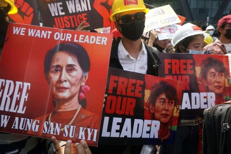 Aung San Suu Kyi has not been seen since she was detained in a dawn raid