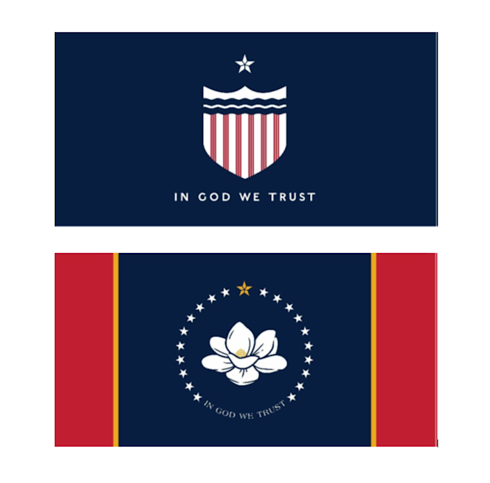The Commission to Redesign the Mississippi State Flag has narrowed down nearly 3,000 submissions for a new state flag to these final two. They will choose one winner to go before voters in November for approval.