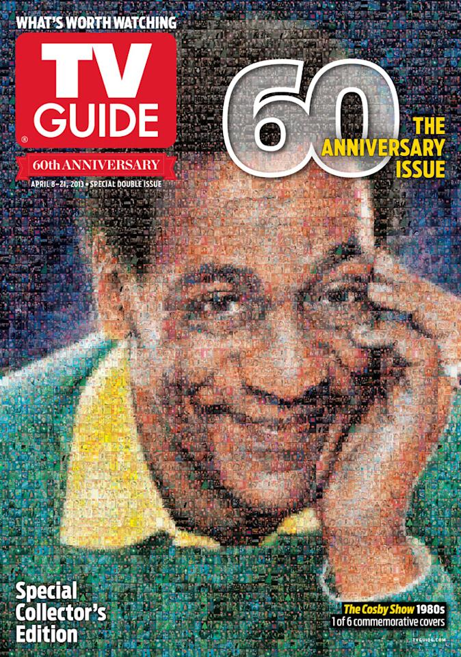"TV Guide 60th Anniversary cover featuring ""The Cosby Show."""