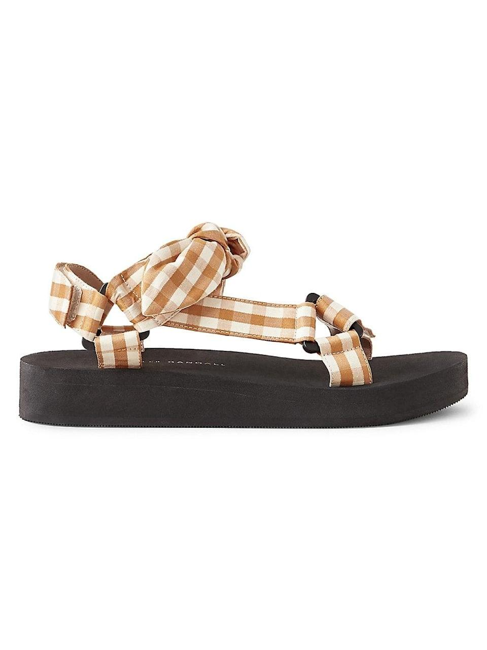"""<p>""""My check print obsession for spring is real. I'll wear <span>Loeffler Randall Maisie Gingham Linen &amp; Cotton Sport Sandals</span> ($195) with cotton dresses in spring and then into summer, poolside."""" - DAC</p>"""