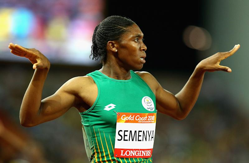 Caster Semenya on day nine of the Gold Coast 2018 Commonwealth Games.