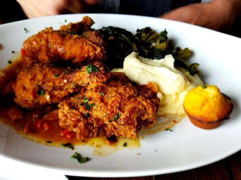 CreoLa's buttermilk fried chicken.