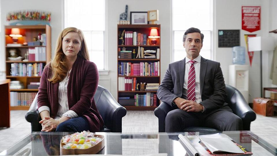 DEAR EVAN HANSEN, from left: Amy Adams, Danny Pino, 2021. © Universal Pictures /Courtesy Everett Collection