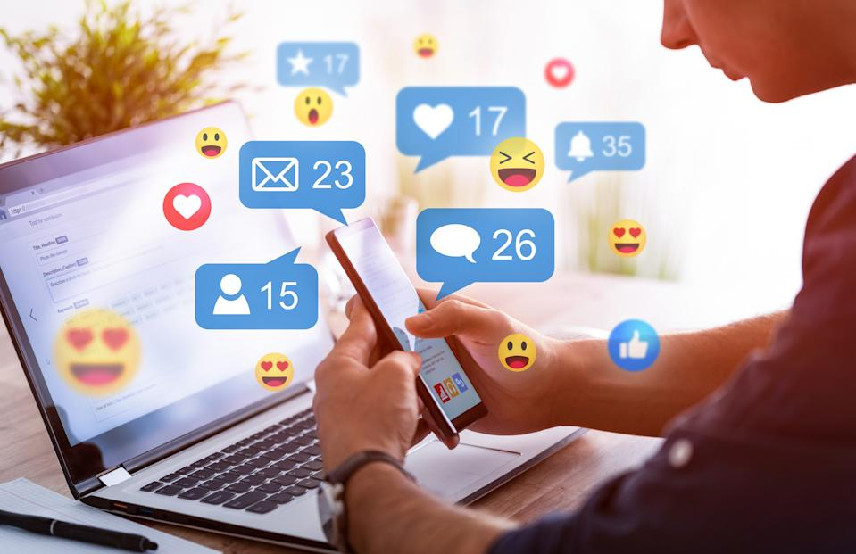 People get angrier on social media over time to 'get the most likes', new research has suggested. (Getty Images)