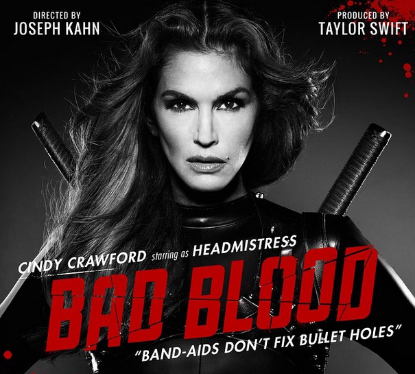 Cindy Crawford as Headmistress in 'Bad Blood'
