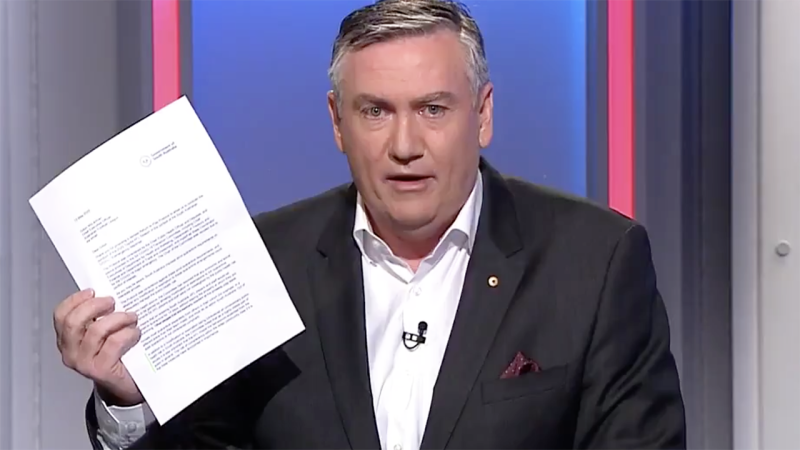 Eddie McGuire, pictured here discussing the letter on Footy Classified.