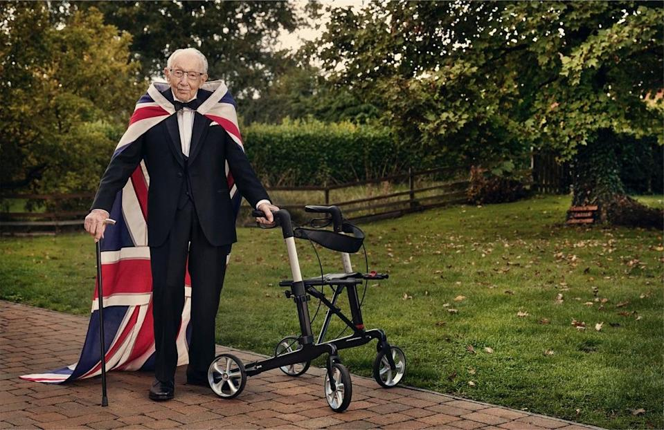 Nation's Hero, Captain Sir Tom Moore, 2020 by Gavin Bond (Courtesy of Sotheby's)