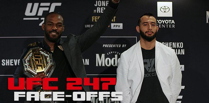 UFC 247 Jones vs Reyes media day faceoff