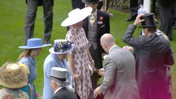 Mike Tindall surprised the Queen with a very tiny top hat at Royal Ascot.