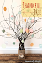 """<p>Fall isn't just the season for earthy tones! Bring out the soft pastels and fun patterns with with this truly charming version of a thankful tree, which uses colorful <a href=""""https://www.amazon.com/Colorbok-Designer-Paper-Wild-Free/dp/B01KG9PFPE/ref=sr_1_1?dchild=1&keywords=scrapbook+paper&qid=1597090686&s=arts-crafts&sr=1-1&tag=syn-yahoo-20&ascsubtag=%5Bartid%7C10055.g.33525114%5Bsrc%7Cyahoo-us"""" rel=""""nofollow noopener"""" target=""""_blank"""" data-ylk=""""slk:scrapbook paper"""" class=""""link rapid-noclick-resp"""">scrapbook paper</a> and white string to display everyone's blessings on the branches. </p><p><em><a href=""""https://domesticallyblissful.com/thankful-tree/"""" rel=""""nofollow noopener"""" target=""""_blank"""" data-ylk=""""slk:Get the tutorial at Domestically Blissful »"""" class=""""link rapid-noclick-resp"""">Get the tutorial at Domestically Blissful »</a></em> </p>"""