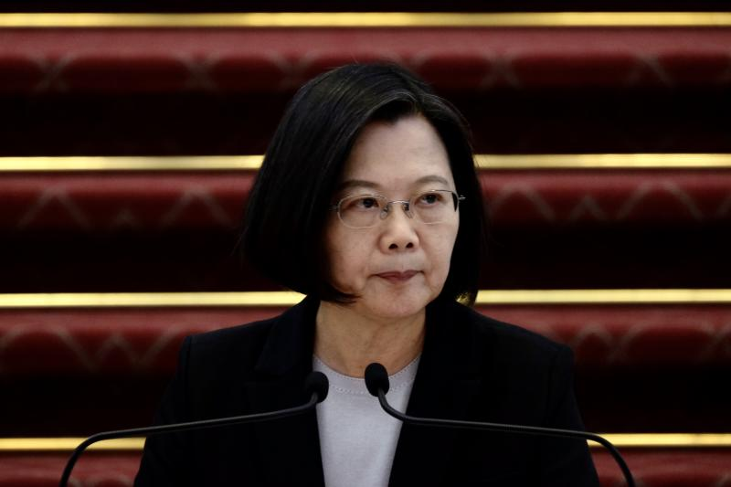 Taiwan President Tsai Ing-wen speaks during a press conference at the presidential office in Taipei on January 22, 2020. (Photo by Sam Yeh / AFP) (Photo by SAM YEH/AFP via Getty Images)