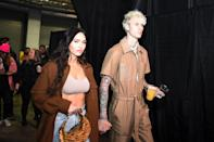 <p>The actress and rapper brought some fun touches to classic neutral tones. </p>