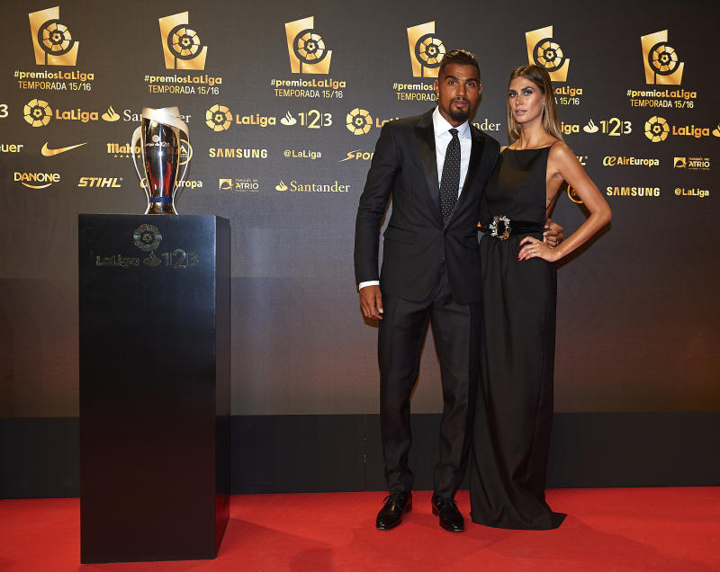 VALENCIA, SPAIN - OCTOBER 24: Kevin-Prince Boateng and Melissa Satta attend the LFP (Professional Football League) Soccer Awards Gala 2016 at Palacio de Congresos on October 24, 2016 in Valencia, Spain. (Photo by Manuel Queimadelos Alonso/Getty Images)