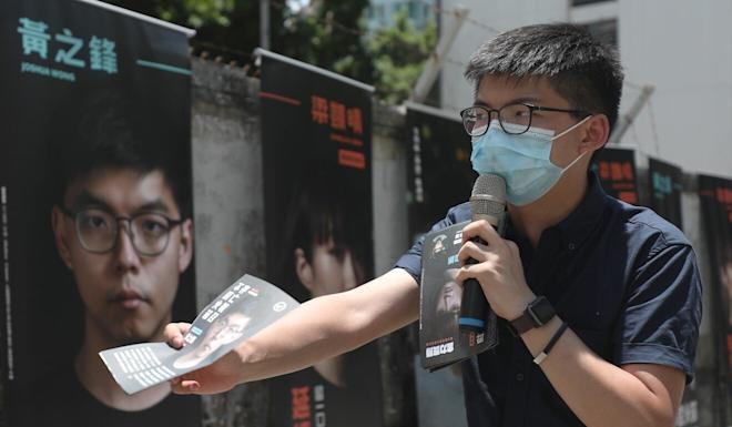 Joshua Wong was one of 12 would-be Legislative Council candidates disqualified on Thursday. Photo: Xiaomei Chen