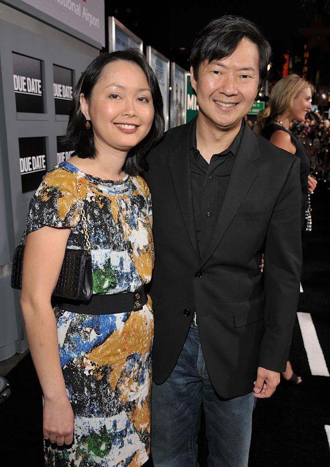 """<a href=""""http://movies.yahoo.com/movie/contributor/1809737459"""">Ken Jeong</a> and wife Tran attend the Los Angeles premiere of <a href=""""http://movies.yahoo.com/movie/1810116445/info"""">Due Date</a> on October 28, 2010."""