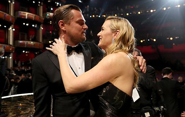 Kate and Leo at the Oscars. Photo: Getty Images.