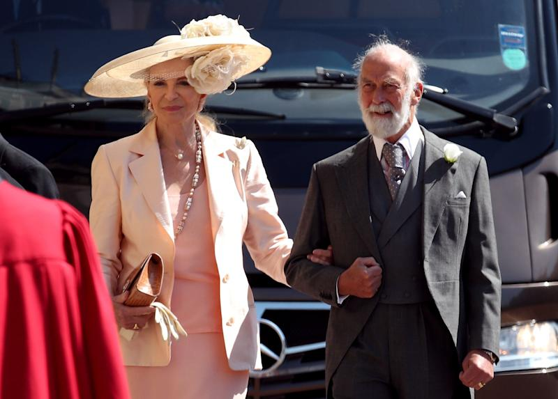 Prince and Princess Michael of Kent at Prince Harry and Meghan Markle's wedding last May [Photo: PA]