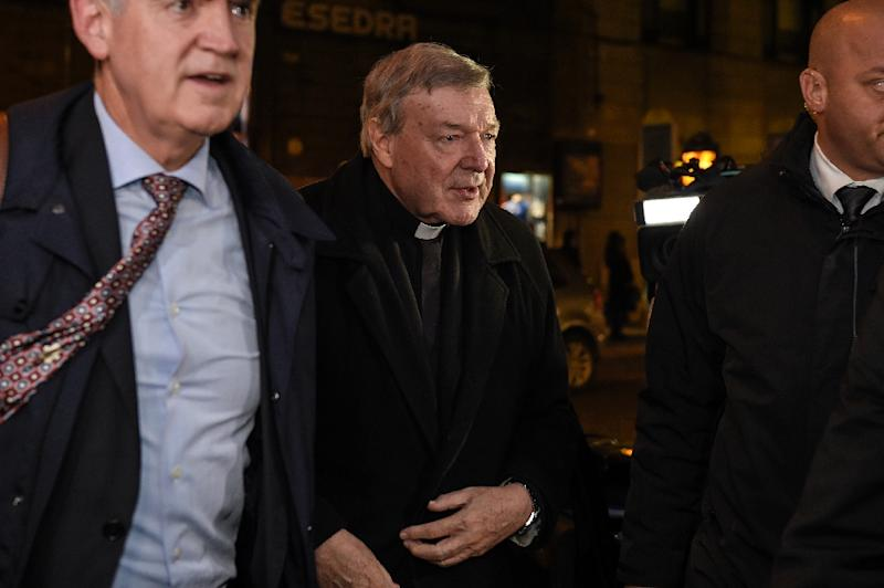 Cardinal George Pell gave evidence to Australia's Royal Commission into Institutional Responses to Child Sexual Abuse via video-link from Rome last year (AFP Photo/ANDREAS SOLARO)