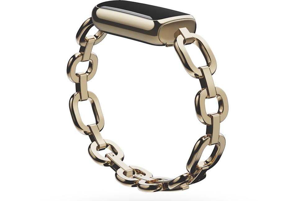 The Fitbit Luxe is designed to be accessorized with a number of available bracelets. (Image: Fitbit)