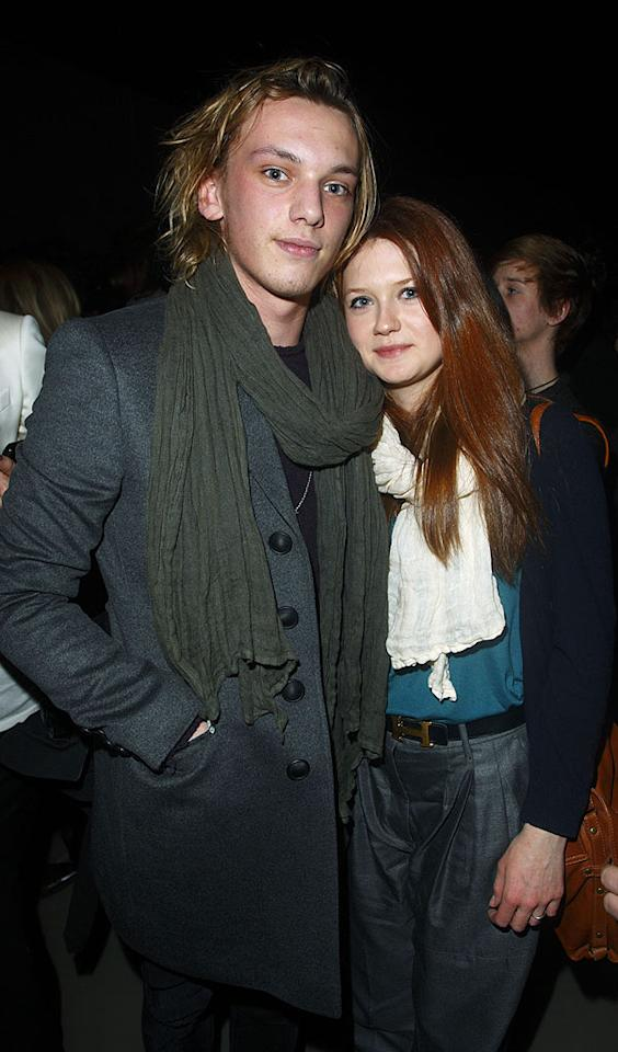 """Harry Potter"" cuties Jamie Campbell Bower and Bonnie Wright were also in attendance at the show. Wright told <i>People</i> of their budding romance, ""We met at a party and we just really clicked straight away. He's a great guy, and we just enjoy spending time together."" Mike Marsland/<a href=""http://www.wireimage.com"" target=""new"">WireImage.com</a> - February 23, 2010"