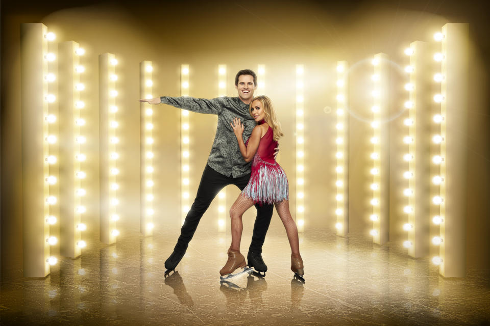 Kevin Kilbane and Brianne Delcourt have found love through 'Dancing On Ice' (ITV)