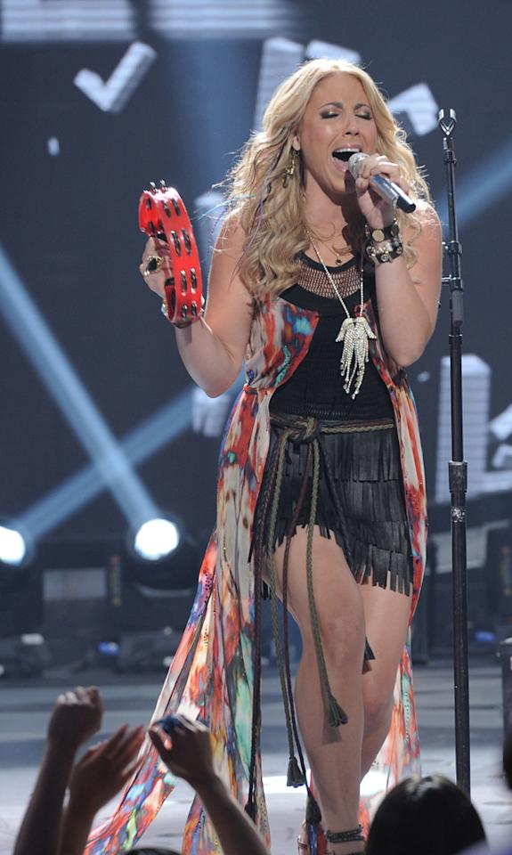 """Elise Testone performs """"I Want It All"""" by Queen on """"<a target=""""_blank"""" href=""""http://tv.yahoo.com/american-idol/show/34934"""">American Idol</a>."""""""