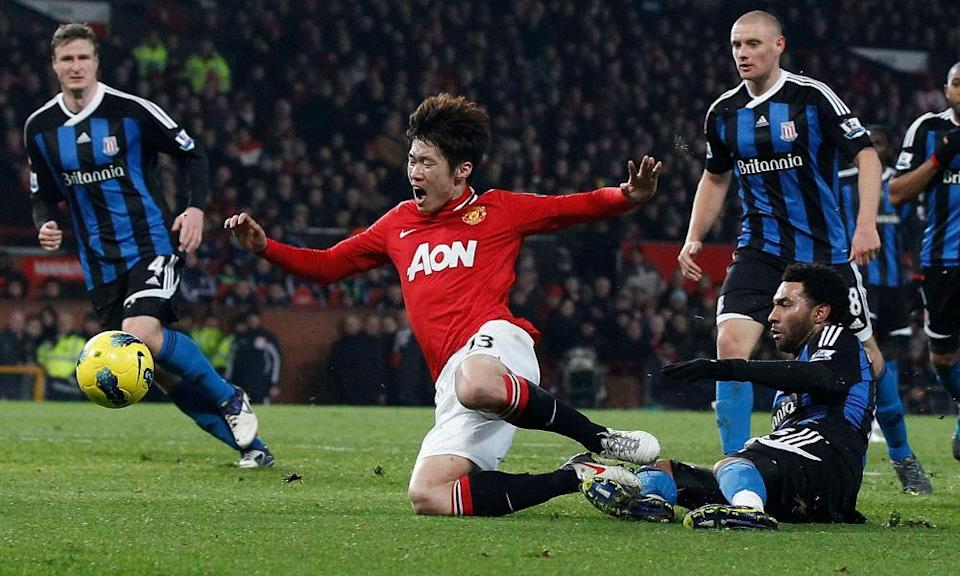 Park Ji-Sung (centre) did help the Manchester United brand and bank balance during seven years at the club.