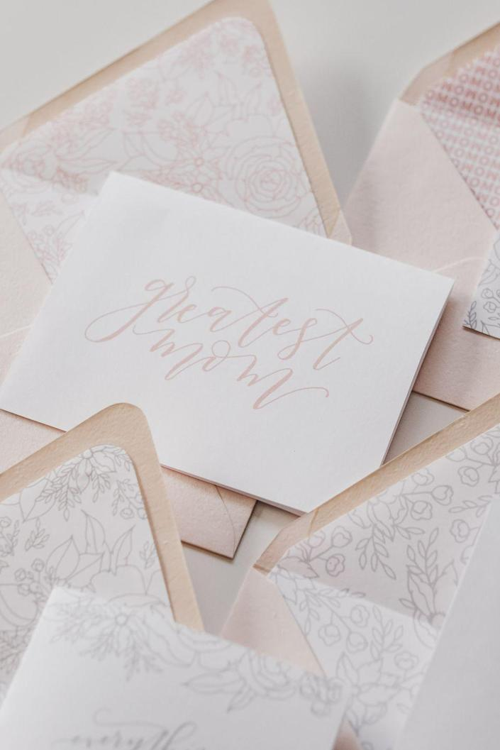 """<p>In case Mom ever needs a reminder of how wonderful she is in your eyes, this collection of sweet cards should do the trick. Complimentary envelope liners make for a pretty package.</p><p><strong>Get the printable at <a href=""""https://www.davidandleanna.com/blog/2018/5/3/free-printable-mothers-day-cards"""" rel=""""nofollow noopener"""" target=""""_blank"""" data-ylk=""""slk:David and Leanna"""" class=""""link rapid-noclick-resp"""">David and Leanna</a>.</strong></p>"""