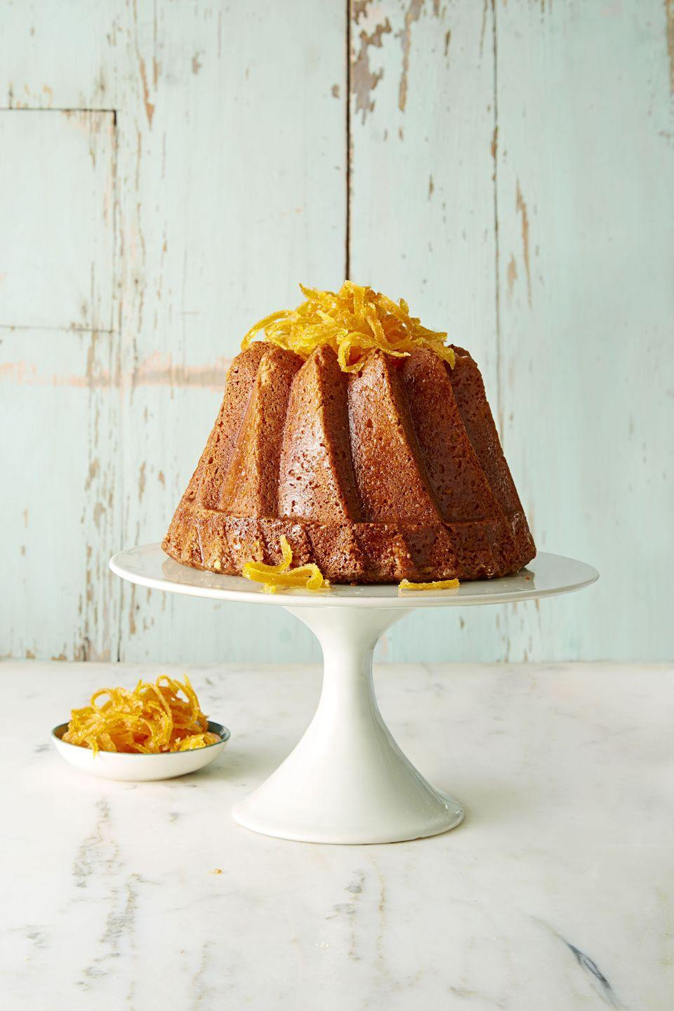 "<p>Spruce up this classic bundt with candied citrus peels.</p><p><a class=""link rapid-noclick-resp"" href=""https://www.amazon.com/Bakers-Secret-Basics-Nonstick-Fluted/dp/B00091PMSU?tag=syn-yahoo-20&ascsubtag=%5Bartid%7C10055.g.4249%5Bsrc%7Cyahoo-us"" rel=""nofollow noopener"" target=""_blank"" data-ylk=""slk:SHOP BUNDT PANS"">SHOP BUNDT PANS</a></p><p><em><a href=""https://www.goodhousekeeping.com/food-recipes/dessert/a38286/triple-citrus-bundt-recipe/"" rel=""nofollow noopener"" target=""_blank"" data-ylk=""slk:Get the recipe for Triple Citrus Bundt »"" class=""link rapid-noclick-resp"">Get the recipe for Triple Citrus Bundt »</a></em><br></p>"