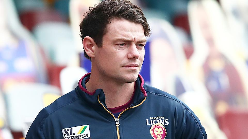 Lachie Neale of the Lions is pictured before the round four match against the Adelaide Crows.