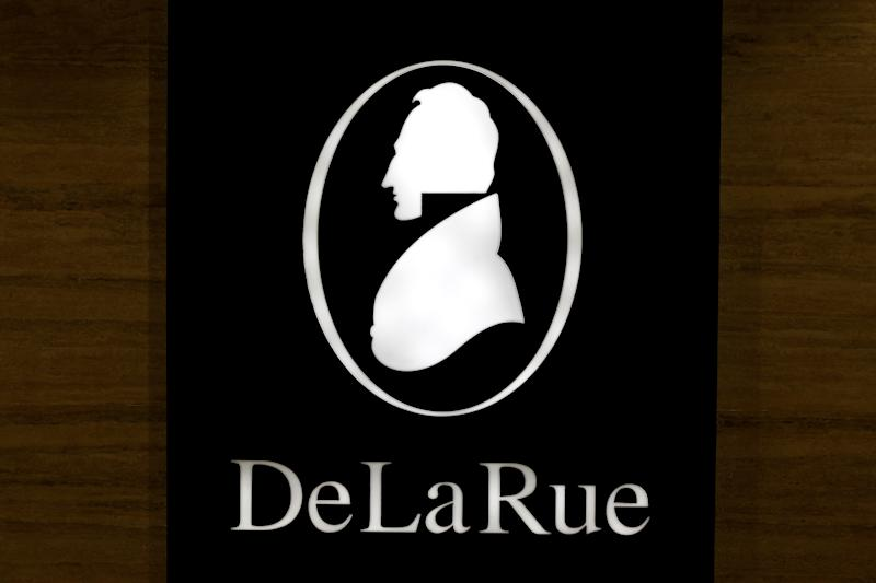 The corporate logo of De La Rue is seen at De La Rue Malta at Bulebel Industrial Estate in Zejtun, Malta April 24, 2018. REUTERS/Darrin Zammit Lupi