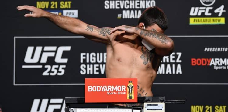 Mike Perry UFC 255 weigh-in