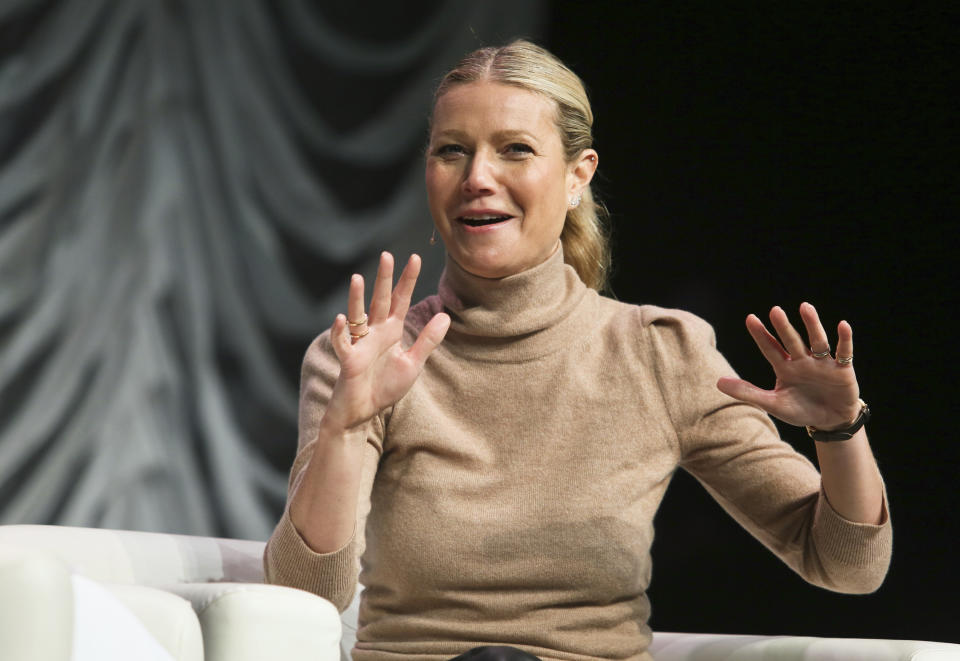 Gwyneth Paltrow takes part in a featured session during the South by Southwest Film Festival on Monday, March 11, 2019, in Austin, Texas. (Photo by Jack Plunkett/Invision/AP)