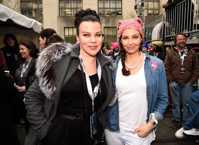 Debi Mazar and Ashley Judd attend the rally at the Women's March on Washington, DC.