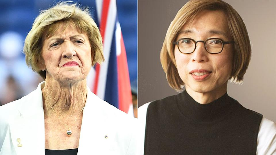 Seen here, Margaret Court and Canberra doctor Clara Tuck Meng Soo.