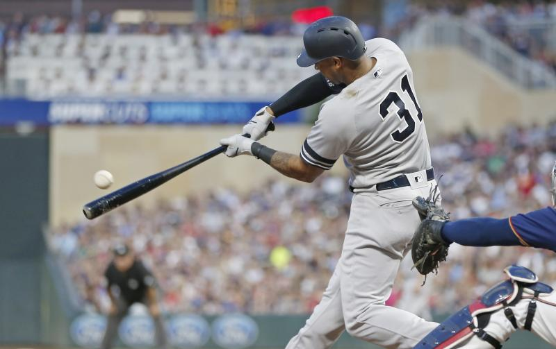 The New York Yankees and Minnesota Twins combined for 20 home runs during a memorable series at Target Field. (AP Photo/Jim Mone)