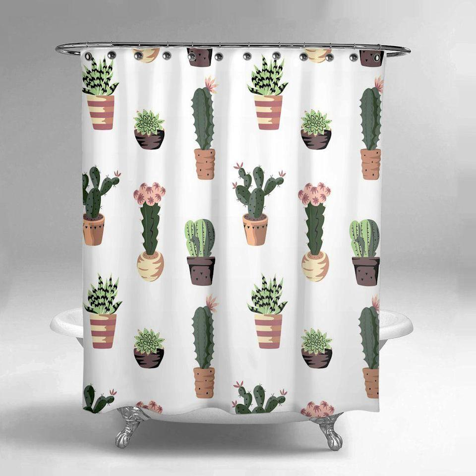 """<p>lumely.co</p><p><strong>$59.99</strong></p><p><a href=""""https://lumely.co/collections/shower-curtains/products/succulent-cactus-shower-curtain"""" rel=""""nofollow noopener"""" target=""""_blank"""" data-ylk=""""slk:SHOP NOW"""" class=""""link rapid-noclick-resp"""">SHOP NOW</a></p><p>Denver-based husband-and-wife duo Alex Nguyen and Lilly Zheng created Lume.ly, a home decor brand offering shower curtains, kimonos, pillow covers, and wall tapestries. The best part? They all come in vibrant, whimsical patterns.</p>"""