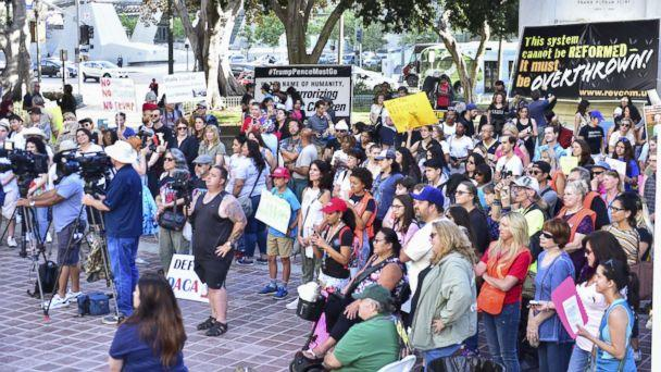 PHOTO:A crowd is pictured at The Women's March LA Rally for Families Belong Together - A Day of Action at Los Angeles City Hall on June 28, 2018, in Los Angeles. (Rodin Eckenroth/Getty Images)