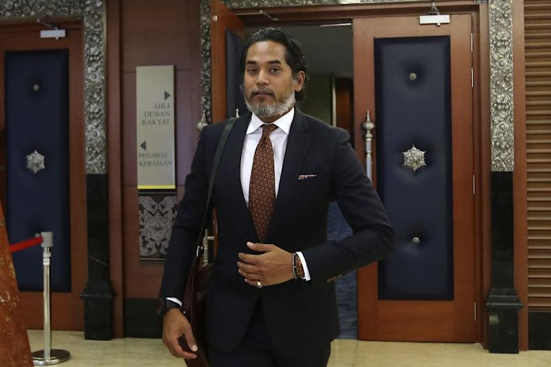 Rembau MP Khairy Jamaluddin is pictured at Parliament in Kuala Lumpur March 26, 2019. — Picture by Yusof Mat Isa
