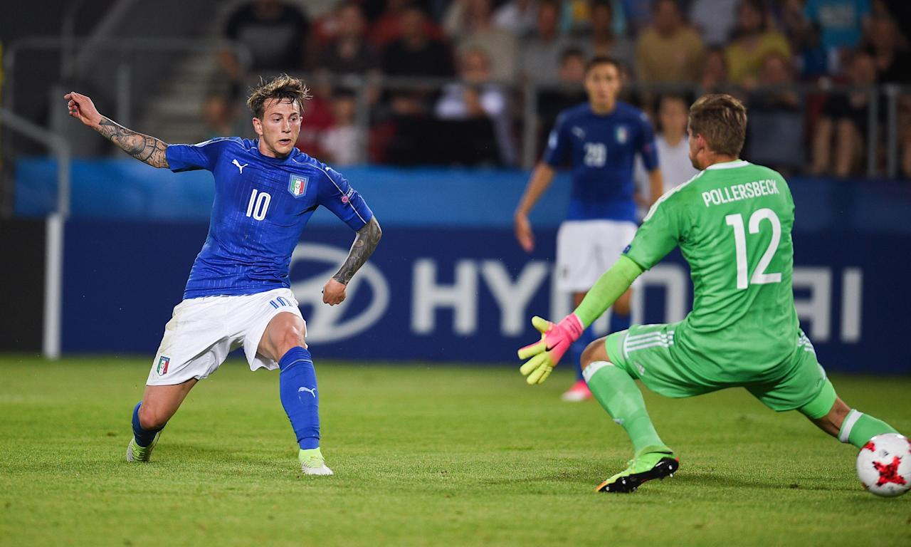 Federico Bernardeschi scores the only goal as Italy beat Germany 1-0, with both teams going through to the semi-finals of the European Under-21 Championship.