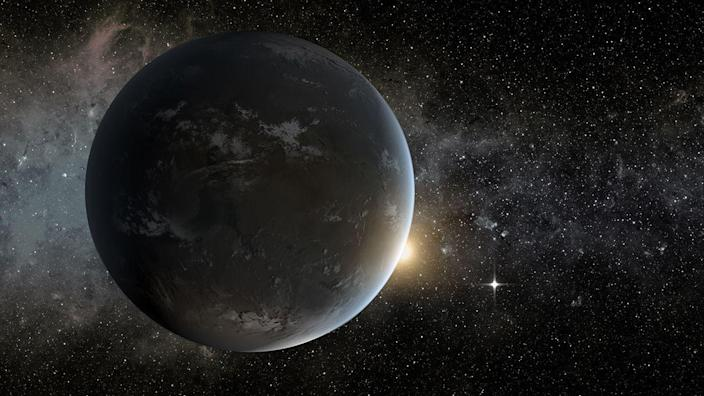 <p>This super Earth takes 5.4 days to complete an orbit around its M-type star. It has a mass 2.02 times Earth's and is approximately 17 light-years from our planet. </p>