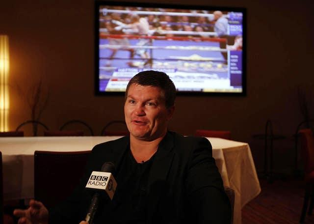 Hatton is pictured shortly after announcing his retirement at the Sportsman Casino in London in 2011