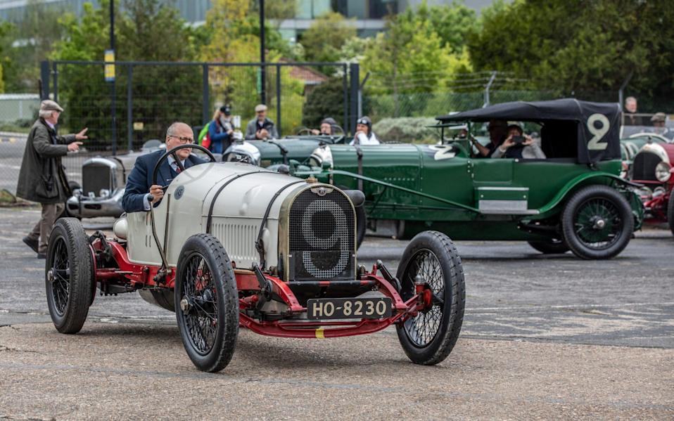 Bentley Drivers Club celebration of the first race win 100 Years ago of a Bentley at Brooklands on 16 May 1921 - Jeff Gilbert