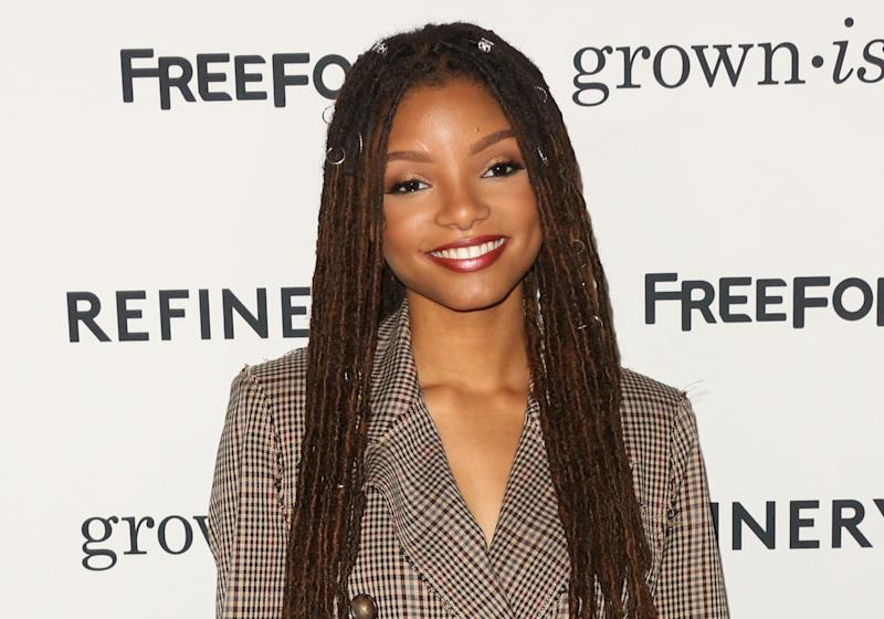 """HOLLYWOOD, CA - DECEMBER 13: Actress Halle Bailey attends the premiere of ABC's """"Grown-ish"""" on December 13, 2017 in Hollywood, California. (Photo by Paul Archuleta/FilmMagic)"""