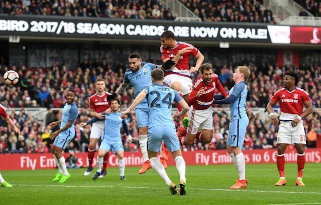 It may not be pretty, but Boro must utilise Gestede's aerial ability (credit: Getty)