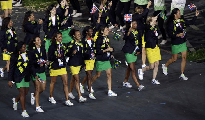 <b>Best</b> <br> Brazil's green and yellow miniskirts were a very risky style choice that ultimately ended up looking very flattering on their female athletes.