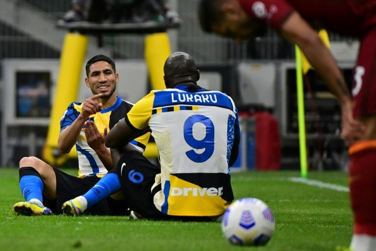 Key players Achraf Hakimi (L) and Romelu Lukaku have recently left Serie A champions Inter Milan