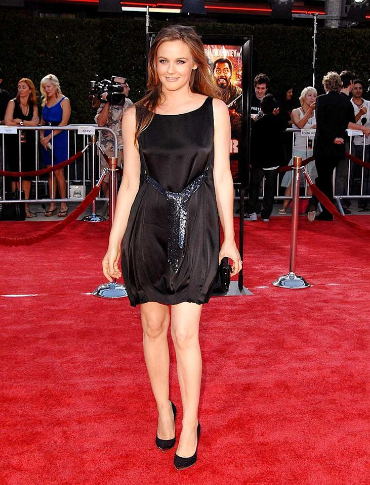 "We simply adore Alicia Silverstone, and it was great to see her back on the red carpet in '08 looking awesome in a belted black bubble dress and matching heels. Jon Kopaloff/<a href=""http://www.filmmagic.com/"" target=""new"">FilmMagic.com</a> - August 11, 2008"