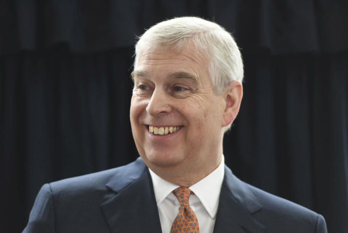 November 21st 2019 - Prince Andrew The Duke of York steps down from all official royal public duties amid the escalation of his associations in the Jeffrey Epstein scandal. - File Photo by: zz/KGC-375/STAR MAX/IPx 2019 3/21/19 Prince Andrew The Duke of York visits the Royal National Orthopaedic Hospital in London to open the new Stanmore Building. (London, England, UK)